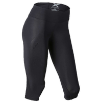2XU Mid Rise Compression 3/4 Tight - Women's - All Black / Black