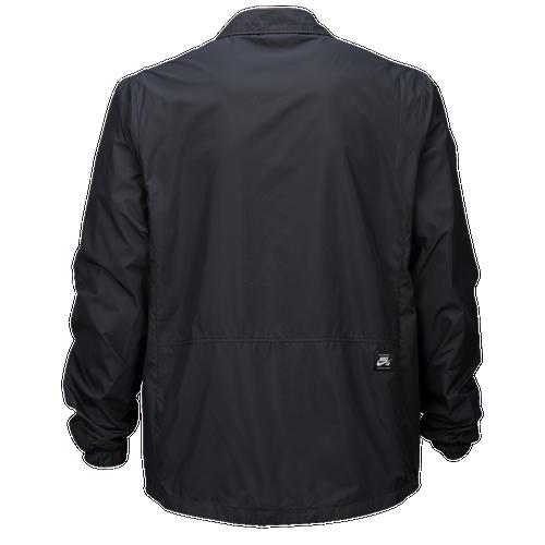 Nike SB Coaches Shield Jacket - Men's - All Black / Black