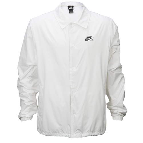 Nike SB Coaches Shield Jacket - Men's - All White / White