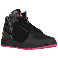 Jordan 1 Flight 3 - Girls' Grade School - Black / Pink