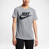 nike essential t shirt women 39 s grey black. Black Bedroom Furniture Sets. Home Design Ideas