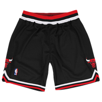 Mitchell & Ness NBA Authentic Shorts - Men's - Chicago Bulls - Black / Red