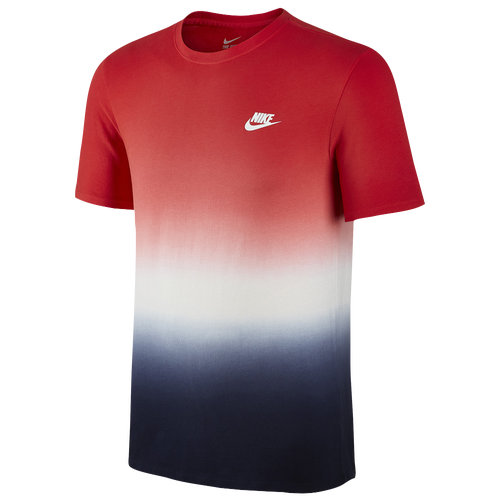 Nike dip dye t shirt men 39 s casual clothing red for Nike tie dye shirt and shorts