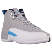 Jordan Retro 12 - Men's - Grey / Light Blue