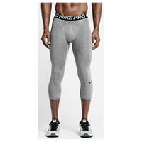 Nike Pro Hypercool Compression 3/4 Tights - Men's - Grey / Black