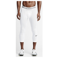 Nike Pro Hypercool Compression 3/4 Tights - Men's - White / Grey