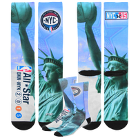For Bare Feet NBA All-Star Crew Socks - Men's - NBA All-Star - Light Blue / Light Green