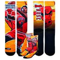 For Bare Feet NBA Center Court Sublimited Player Socks - Men's -  Derrick Rose - Chicago Bulls - Red / Yellow