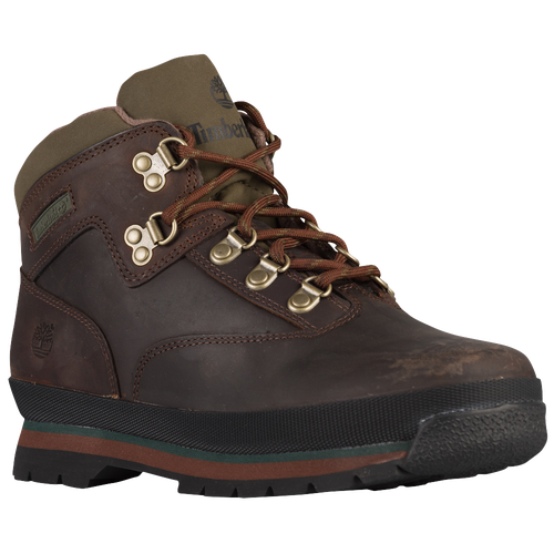 Timberland Euro Hiker - Boys' Grade School - Brown / Olive Green