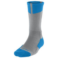 Jordan AJ Dri-Fit Crew Socks - Men's - Grey / Light Blue
