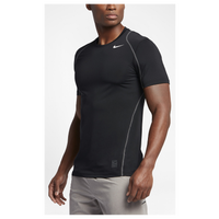 Nike Pro Cool Fitted S/S Top - Men's - Black / Grey