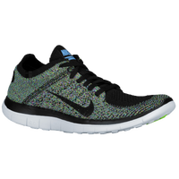Nike Free 4.0 Flyknit - Women's - Black / Light Blue