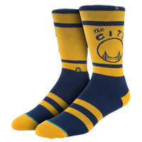 Stance NBA Team Socks - Men's - Golden State Warriors - Gold / Navy