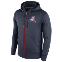 Nike College Sideline KO Full-Zip Hoodie - Men's - Arizona Wildcats - Navy / Red
