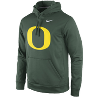 Nike College Performance Practice Hoodie - Men's - Oregon Ducks - Dark Green / Yellow