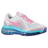 Nike Air Max 2014 - Girls' Grade School - White / Light Blue