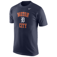 Nike MLB Homer T-Shirt - Men's - Detroit Tigers - Navy / Orange