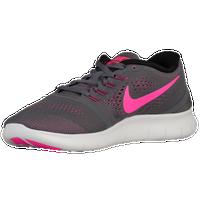 Nike Free RN - Women's - Grey / Pink