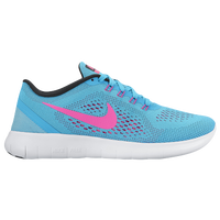 Nike Free RN - Women's - Light Blue / Pink