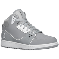 Jordan 1 Flight 2 - Boys' Grade School - Grey / White