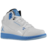 Jordan 1 Flight 2 - Boys' Grade School - White / Light Blue