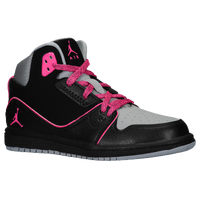 Jordan 1 Flight 2 - Girls' Preschool - Black / Pink