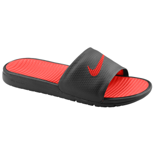 Nike Benassi Solarsoft Slide - Men's - Black/Sport Red