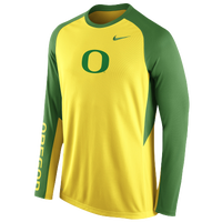 Nike College DF On Court Shooting Shirt - Men's - Oregon Ducks - Yellow / Green