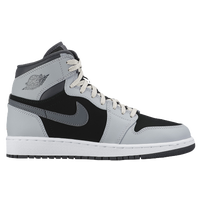 Jordan AJ 1 High - Girls' Grade School - Grey / Black