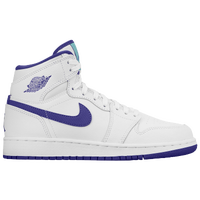 Jordan AJ 1 High - Girls' Grade School - White / Purple