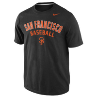Nike MLB Practice T-Shirt - Men's - San Francisco Giants - Black / Orange