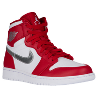 Jordan AJ 1 High - Men's - USA - Red / Silver