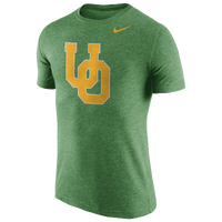Nike College Tri-Blend Logo T-Shirt - Men's - Oregon Ducks - Green / Gold