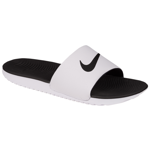 Nike Kawa Slide - Men's - Casual - Shoes - White/Black