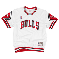 Mitchell & Ness NBA Authentic Shooting Shirt - Men's - Chicago Bulls - White / Red