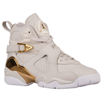 Jordan Retro 8 - Boys' Grade School - Off-White / Gold