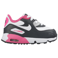 Nike Air Max 90 - Girls' Toddler - Black / White