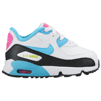 Nike Air Max 90 - Girls' Toddler - White / Light Blue