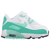 Nike Air Max 90 - Girls' Toddler - White / Light Green