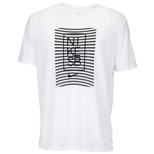 Nike SB Dry DB Striped T-Shirt - Men's - White / Black