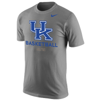 Nike College DF Basketball Practice T-Shirt - Men's - Kentucky Wildcats - Grey / Blue