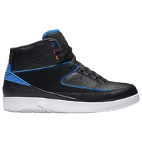 Jordan Retro 2 - Men's - Black / Light Blue