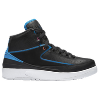 Jordan Retro 2 - Boys' Grade School - Black / Light Blue