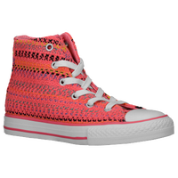 Converse All Star Knit - Girls' Preschool - Pink / Orange