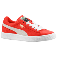 PUMA Suede Classic - Boys' Grade School - Red / White