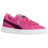 PUMA Suede Classic - Girls' Grade School - Pink / Purple