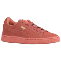 PUMA Suede Classic - Girls' Grade School - Orange / Orange
