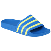 adidas Originals Adilette - Men's - Light Blue / Yellow