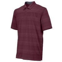 Nike Team Tech Stripe Polo - Men's - Maroon / Maroon