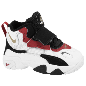 Nike Speed Turf - Boys' Toddler - Sanders, Deion - White/Black/Gym Red/Metallic Gold